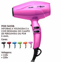 Secador Profissional 2000w Mega Colors Rosa 110v Ou 220v