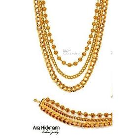 Conjunto Coleção Ana Hickmann 4º Edição ) Rommanel Folheado