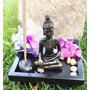 Jardin Zen Minitura De Buda, Decoracion, Budismo Con Vela