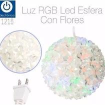 Lampara Led Rgb Con Forma De Flores Tipo Esfera Iluminacion