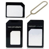 Adaptador Micro Sim Nano Chip Iphone 4s 5s S4 E Android