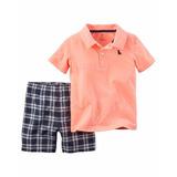 Carters Short Chomba/camisa Bebe Varon Talle 12, Meses