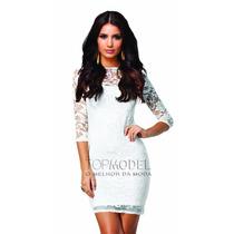 Vestido Feminino Renda Plus Size Tubinho Festa Balada Moda