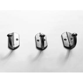 Ganchos Percheros Simples De Aluminio Kit X 10
