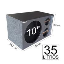 Caixa De Som Trio Para 1 X 10 Duto Regua Mdf15 Mm 35 Litros