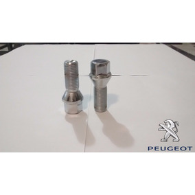 Jogo Parafusos Cromados Roda Esportiva Peugeot 206, 207, 306