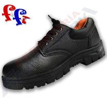 Zapato De Trabajo Con Puntera Suela Reforzada Negro Amarillo