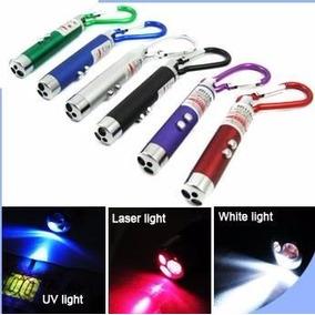 Caixa Com 24 - Chaveiro 3 X1 Lanterna, Luz Negra Laser