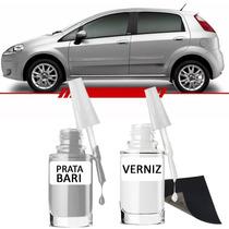 Tinta Tira Risco Automotivo Fiat Punto Cor Prata Bari**