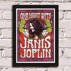 Poster Com Moldura Janis Joplin