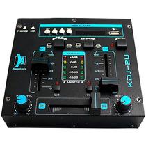 Mixer Mezcladora Dj 2 Canales Con Reproductor Usb