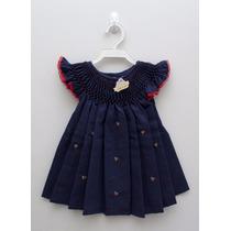 Vestidos Com Bordados E Casinha De Abelha Para Bebê