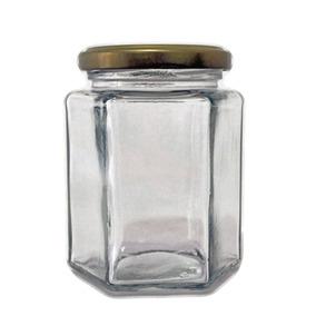 Frasco Vidrio Hexagonal 250 Ml 12 Pz Mermelada Salsa -ahtm