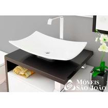Cuba / Pia De Apoio P/ Banheiro Formato Folha Branco - Bari
