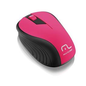 Mouse Sem Fio 2.ghz Preto E Rosa Usb Mo214 Multilaser