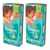 2 Hiperpacks Pañales Pampers Confort Sec En Todos Los Talles