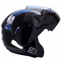 Capacete Ebf E8 Preto Robocop - Escamoteável - Articulado