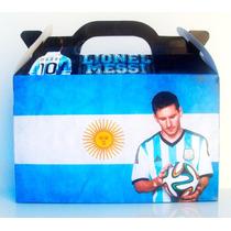 Cajita Bolsita Messi Futbol Souvenirs Infantiles Pack X30