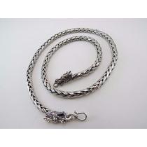 Corrente Cordão+ Pulseira Prata 925 De Bali Masculina Maciça