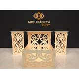 Kit Provencal Mdf Arabesco Mesa + Cubos +caixa Presente+brin