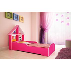 Cama Infantil Gelius Casinha Pink