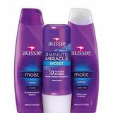 Aussie Moist Shampoo +condicionador+máscara 3 Minute Miracle