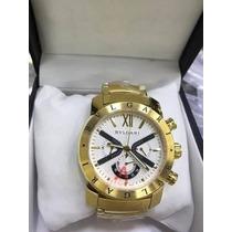 Relogio Iron Man Branco Dourado Masculino B53 Luxo Classico