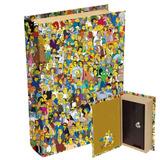 1 Livro Cofre De Madeira Simpsons Springfield 21 X13 Cm