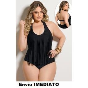 Maiô Franja Tamanho Grande Especial Plus Size 48 52 54 56 58
