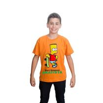 Camiseta Camisa Bart Simpson Skatista