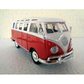 Miniatura Kombi Volkswagen Van Samba Maisto Escala 1:25