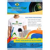 Papel Sublimatico Resinado A4 Fundo Azul Blue Paper C/ 100 F