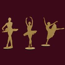 Kit 15 Bailarinas 25cm Decoração Mesa Festa Lembrancinha Mdf