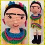 Frida Kahlo Muñeca Amigurumi 40 Cm Crochet Amigurumis