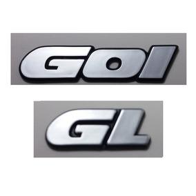 Kit Emblemas Volkswagen Gol (quadrado) Gl 90 À 97 + Brinde