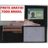 Atacado 20 Peças Mini Carteira Couro Porta Cartões E Cnh Mg1
