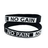 Pulseira De Silicone No Pain No Gain Musculação