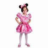 Disfraz Disfraces Minnie Mouse Roja Rosada Vestido,cintillo