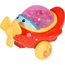 Brinquedo Avião A Corda Com Luz - Dm Toys