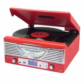 Toca Discos Symphony Vermelho Lp/fm/usb/gravação