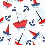 Papel De Parede Infanto Menino Barco Marinheiro Auto Adesivo