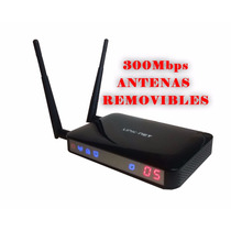 Router Link-net 300mbps Atenas Removibles 5dbi Wifi Con Base