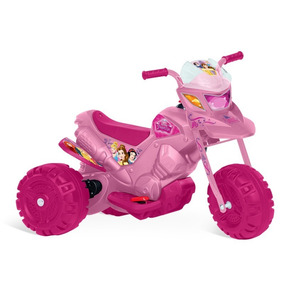 Moto Elétrica Infantil Menina Princesas Disney Bandeirante