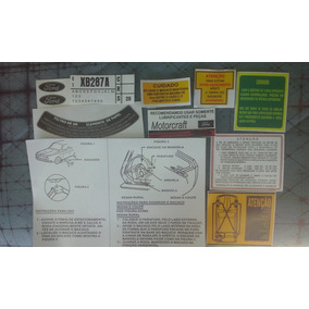 Jogo De Adesivos Originais Ford Corcel 1 2 Belina Del Rey