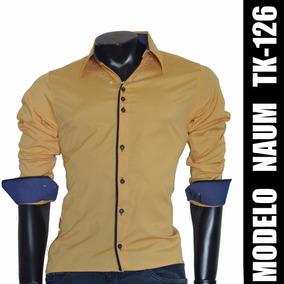 Camisa Social Slim Fit Nacional Tk126 A Pronta Entrega