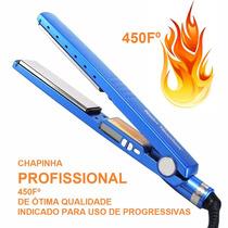 Chapinha Prancha Azul Nano Titanium Profissional Progressiv