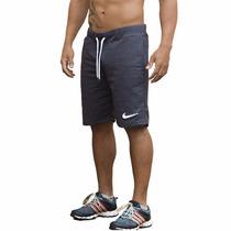 Kit 3 Shorts Moleton Nike Masculina Bermuda Academia Esporte