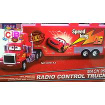 Carreta Mack+8 Carrinhos Do Filme Cars Controle Remoto Total