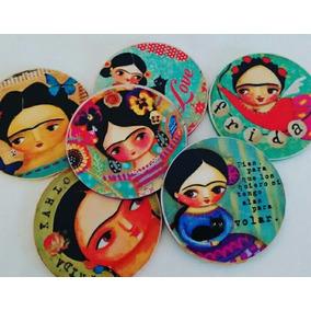 Posavasos Madera X6 Frida Kahlo