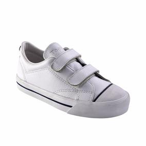 Zapatillas Topper Profesional Cuero Ii C/abrojo Niños Blanco